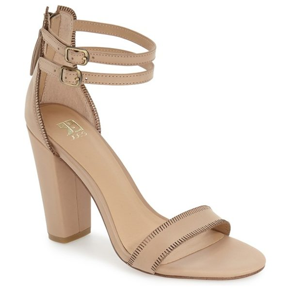 JOE'S vader sandal - Slim ankle straps top a smooth leather sandal lifted by...