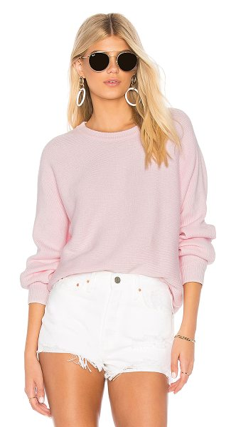 JOHN & JENN BY LINE x REVOLVE Erin Pullover in pink - 100% cotton. Hand wash cold. Knit fabric. JNAX-WK197....
