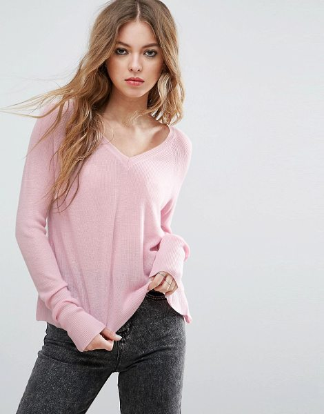 JOHN + JENN John & Jenn Adelaide Full Needle Raglan V Neck Sweater - Sweater by John Jenn, Lightweight fine knit, V-neck,...