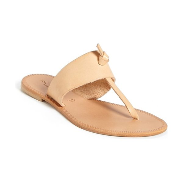 JOIE a la plage nice flip flop - A leather flip-flop styled with a modern knot detail is...