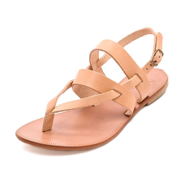 Joie A la plage positano flat sandals in natural/natural