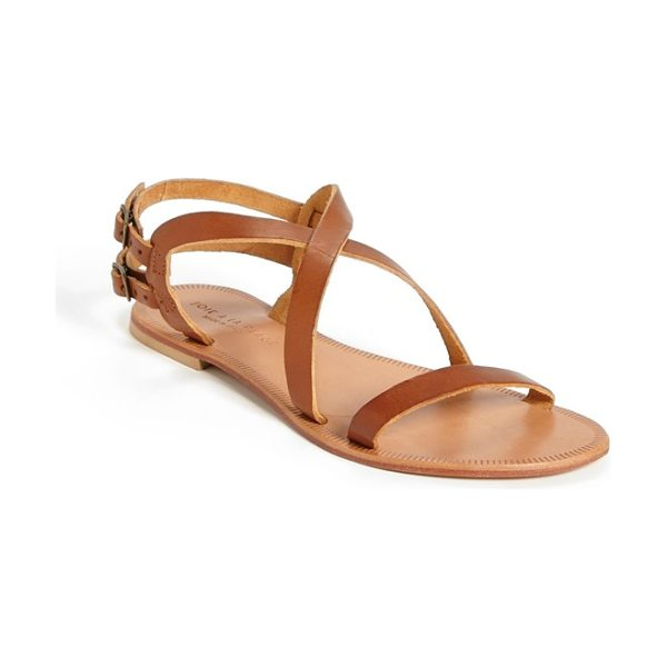 Joie a la plage socoa leather sandal in cognac - Supple leather straps twist atop a striking flat sandal...