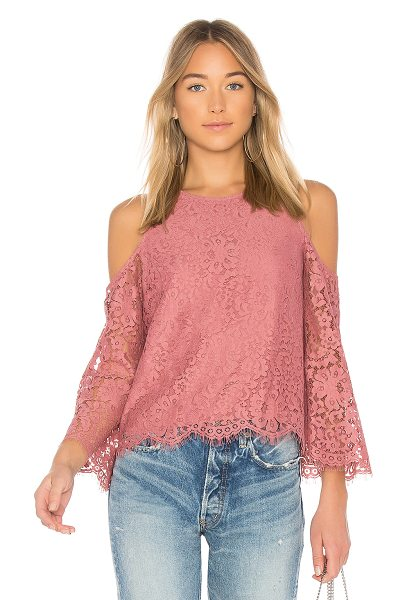 Joie Abay Top in rose - Self: 54% nylon 46% cottonContrast: 100% poly. Dry clean...