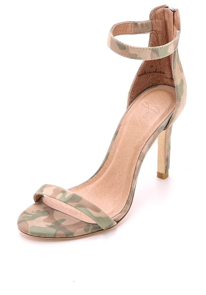 Joie Abbot sandals in khaki - Simple Joie sandals gain a modern feel from camouflage...