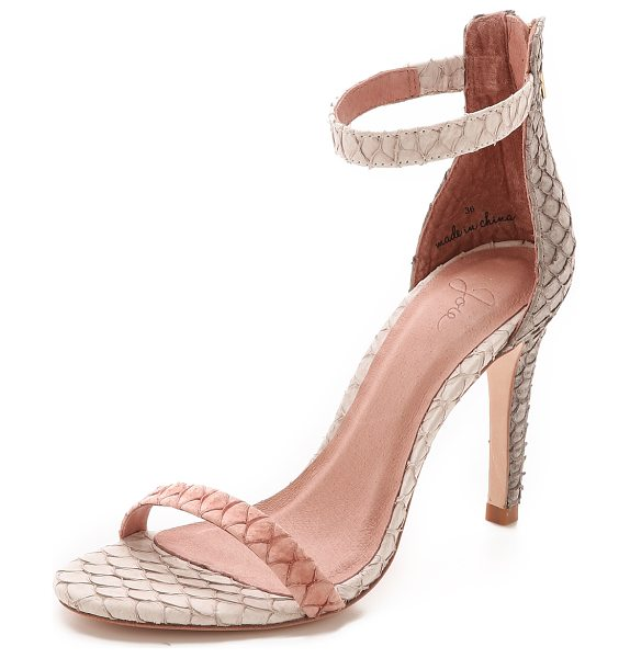 Joie Abbott sandals in clay/dove/parchment - Scale textured panels create a unique look on these...