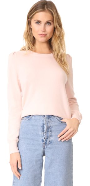 Joie abiline sweater in heather primrose - This classic crew-neck Joie sweater is composed of soft...