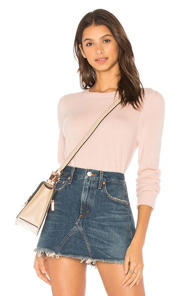 Joie Abiline Sweater in pink - Wool blend. Dry clean only. Rib knit edges. JOIE-WK205....