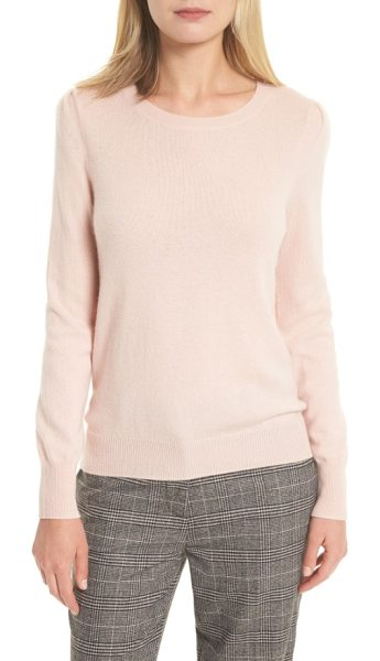 Joie abiline wool & cashmere sweater in heather primrose - Gently puffed sleeves put a fresh and feminine spin on...