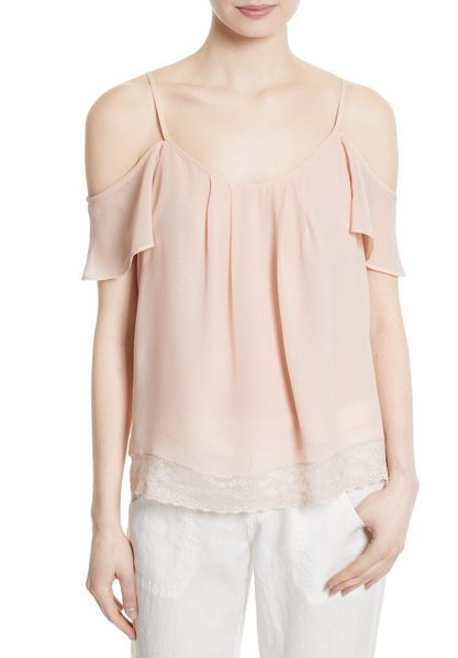 JOIE adorlee b off the shoulder silk top - Show off pretty shoulders and decolletage in a...