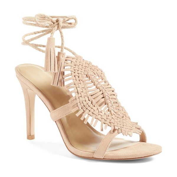 Joie ady sandal in warm gold - An intricately woven cuff and braided, tasseled ankle...