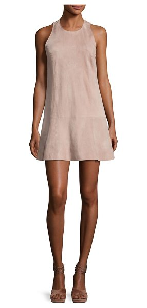 "Joie Amedia Suede Sleeveless Mini Dress in blush - Joie ""Amedia"" mini dress in supple goat suede. Approx...."