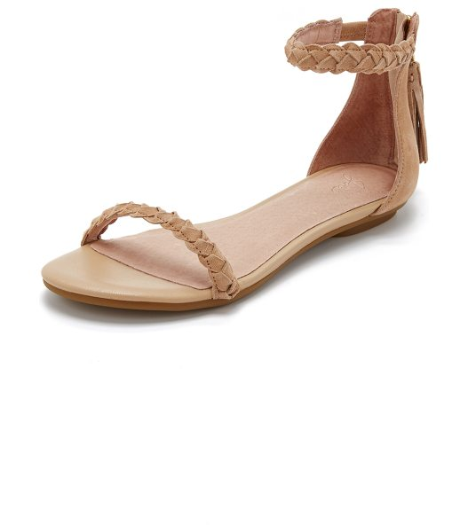 Joie Amina sandals in buff - Slim braided straps lend a streamlined look to these...