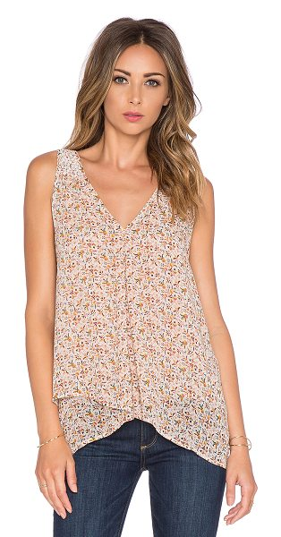 Joie Anselm v neck tank in beige - 100% silk. Dry clean only. Smocked back yoke....