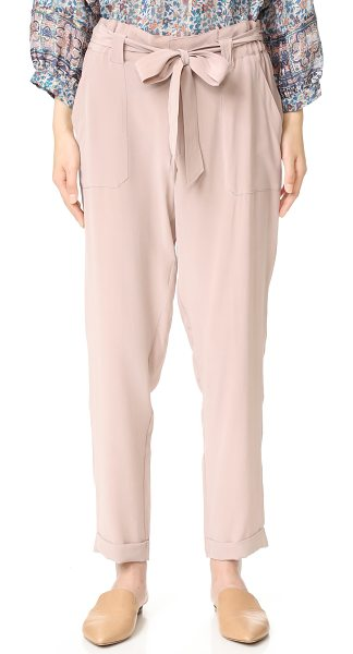 JOIE asuka pants in dusty mink - Washed silk Joie trousers in a high rise silhouette. A...