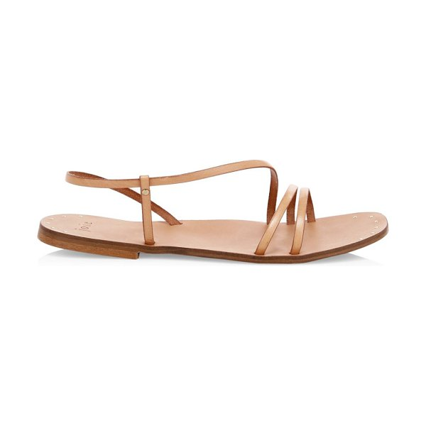 Joie baja leather strappy flat sandals in beige