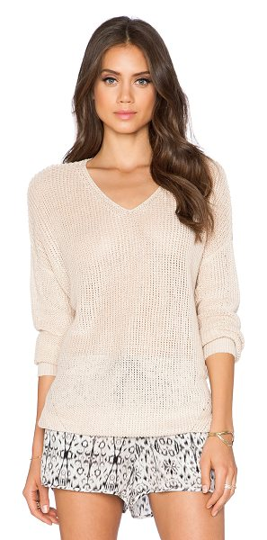 Joie Bunny sweater in tan - 100% linen. Hand wash cold. JOIE-WK140. 4388 K1685....