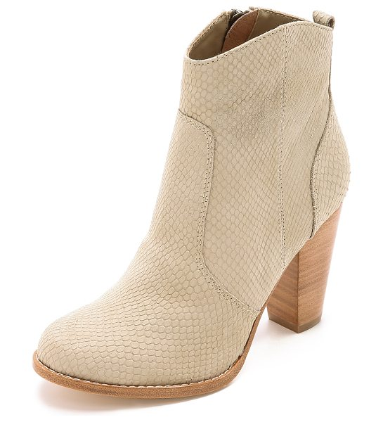 JOIE Dalton booties in dusty pink sand - Laser cut scales bring rich texture to these versatile...