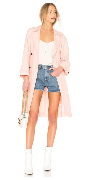 Joie Damonica Trench in rose - Self: 72% cotton 28% linenLining: 100% cotton. Dry clean...
