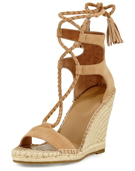 Joie Delilah Braided Wedge Espadrille Sandal in powder