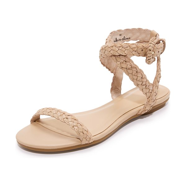 Joie fadi flat sandals in powder - Casual Joie sandals featuring woven leather straps....