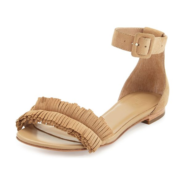 Joie Ferris Fringe Suede Sandal in buff - ONLYATNM Only Here. Only Ours. Exclusively for You. Joie...