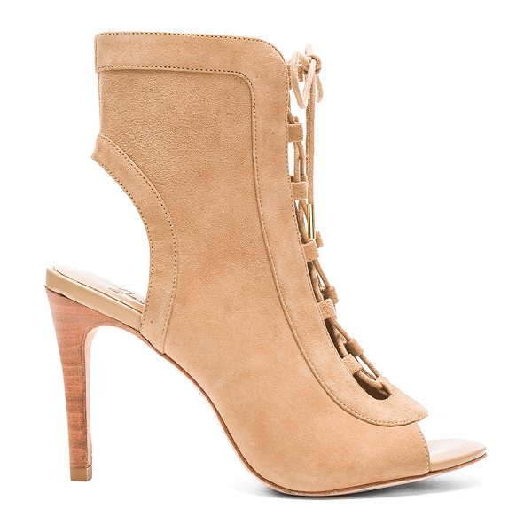Joie Freya bootie in beige - Suede upper with leather sole. Lace-up front with tie...