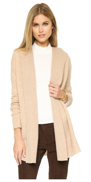 Joie Gredan cardigan in heather camel/newmoon - This hooded Joie cardigan sweater drapes loosely,...