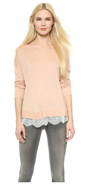 Joie Hilano sweater in dusty pink sand w/ porcelain - This Joie sweater is a simple piece with a girly twist....