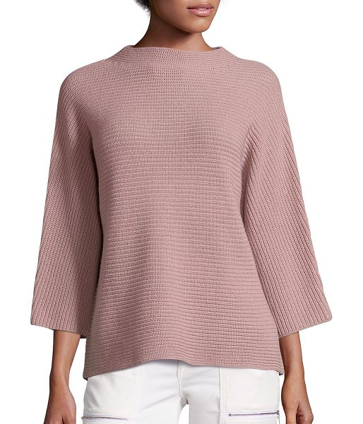 Joie ife wool & cashmere sweater in dusty mink - Plush knit sweater in slightly boxy silhouette....