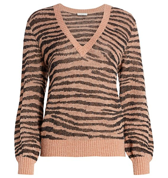 Joie inira zebra sweater in ginger