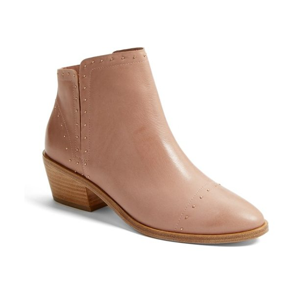 Joie jacobean studded chelsea boot in dusty buff - Tiny studs trace the decorative stitching on a smart,...