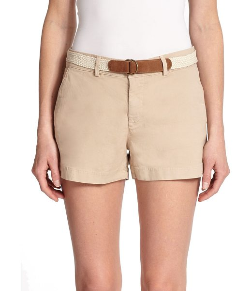 Joie Jardin chino shorts in desert - A casual-cool alternative to denim, this stretch-cotton...