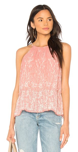 Joie Jeneca Tank in rose - Rayon blend. Dry clean only. Pleated fabric detail...