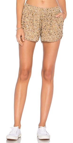 "Joie Joselle Short in beige - ""100% poly. Dry clean only. Elasticized drawstring..."