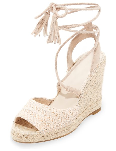 Joie kacy wrap sandals in powder raffia - Summer-ready Joie sandals styled with a washed raffia...