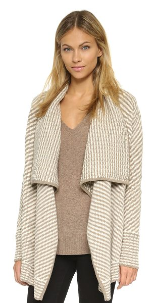 JOIE Larunda cardigan - A striped Joie sweater with a draped, open placket....