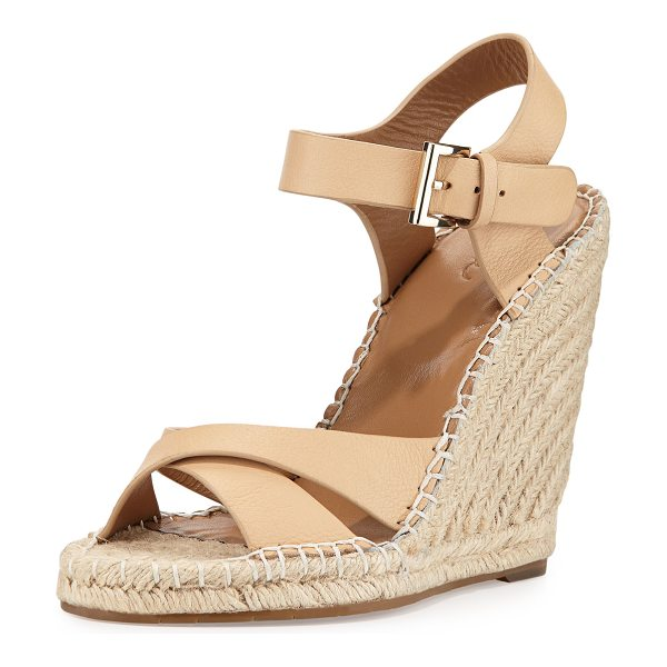 "Joie Lena leather espadrille sandal in nude -  Joie espadrille sandal with leather upper. 3. 8""..."