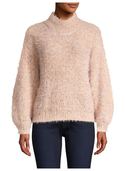 Joie markita knit turtleneck sweater in pink sky