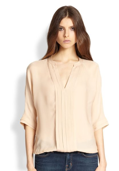 Joie Marru pleated silk blouse in dustypinksand - Fine, lustrous silk, tailored in a billowing silhouette...