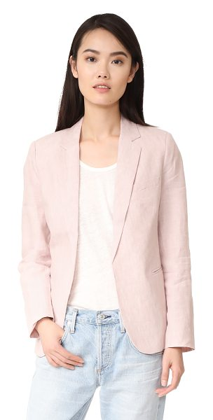Joie mehira blazer in dusty mink - Crisp linen suiting lends a summery feel to this...