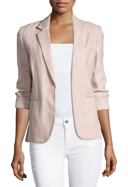 Joie Mehira Chambray Blazer in pink - Joie Mehira blazer in chambray. Approx. measurements:...