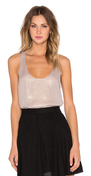 Joie Mirla tank in taupe - Silk blend. Dry clean only. Metallic accent throughout....