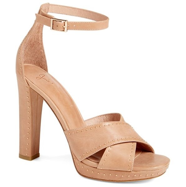 JOIE 'naara' ankle strap sandal in dusty buff - A neutral-hued sandal makes a statement with its mix of...