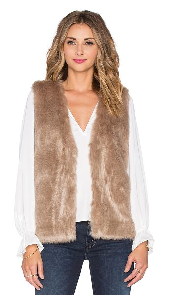 Joie Nimoy faux fur vest in brown - Self: 81% modacrylic 19% polyLining: 94% poly 6%...
