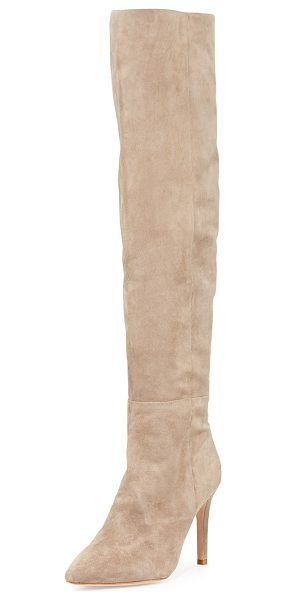 Joie Olivia over-the-knee suede boot in mousse (tan) - ONLYATNM Only Here. Only Ours. Exclusively for You. Joie...