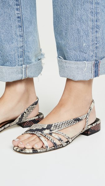 Joie palma flat sandals in natural python