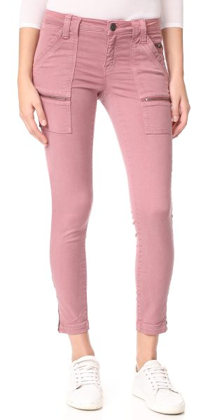 JOIE park skinny pants - Zip front pockets and zip cuffs lend a moto-inspired...