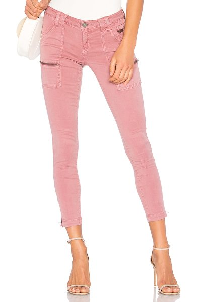 Joie Park Skinny in medina mauve - 57% cotton 39% lyocell 4% spandex. Front slant and...
