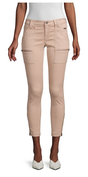 Joie park zippered skinny pants in tawny - Moto-cool zip details define this cropped skinny jean...