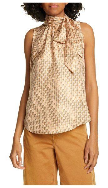 Joie pascale sleeveless silk top in beige